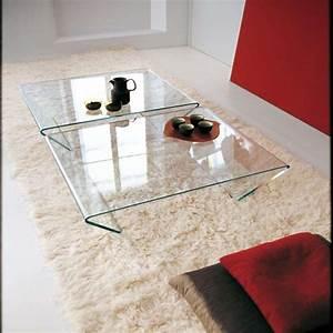 Verre Pour Table Basse : table basse verre italienne ~ Teatrodelosmanantiales.com Idées de Décoration