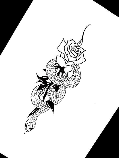 Tattoo uploaded by Kate Očenášová | #snake #rose #tattoo #
