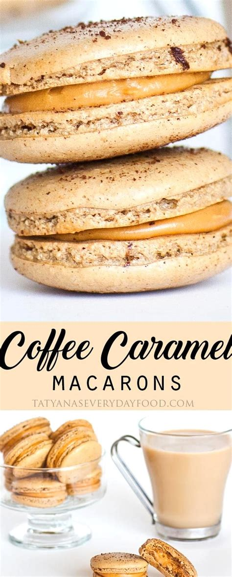 Substitute your favorite vegetarian gelatin alternative. Coffee Macarons with Caramel Filling - Tatyanas Everyday Food in 2020 | Waffle mix recipes ...