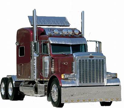 Peterbilt Silhouette Truck Clipart Clip Trucks Transparent