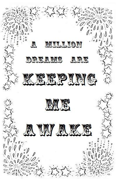 Coloring Lyrics by Greatest Showman Quote Coloring Page Ideas In 2019