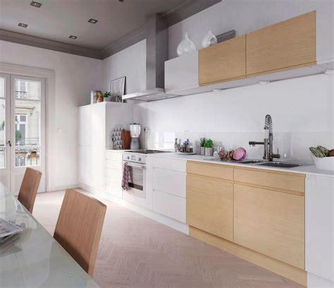 les cuisines cuisine chene massif moderne