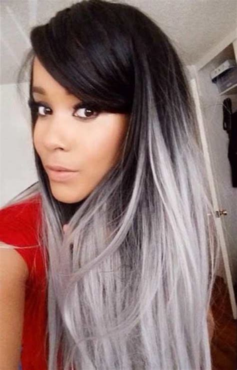 Coloring Hair Grey by 25 New Grey Hair Color Combinations For Black The