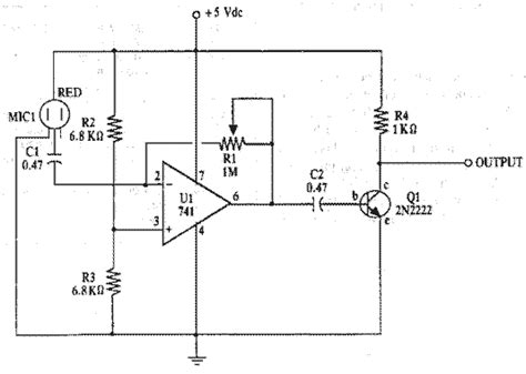 Electret Mic Amplifier Circuit Diagram Project Alarms