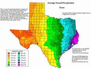 Texas precipitation map