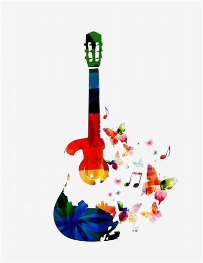 Guitar Colorful Clipart Butterfly Webstockreview Bass