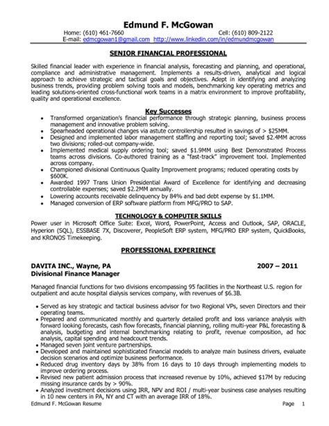 Financial Advisor Resume Entry Level by Skill Resume Financial Planner Resume Sle Financial