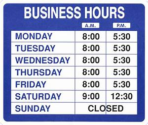 business hours sign template free images With hours of operation template microsoft word