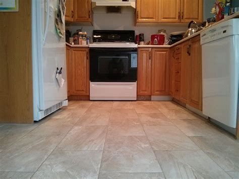 tile kitchen floor ideas 12x24 light colored porcelain tile kitchen 6168