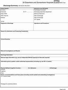 download discharge summary template for free formtemplate With discharge summary template mental health
