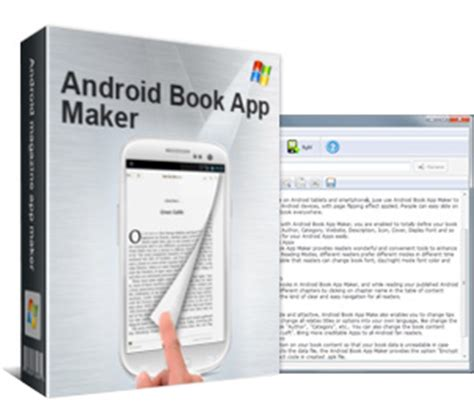 android app maker android book app maker build android book apps from text