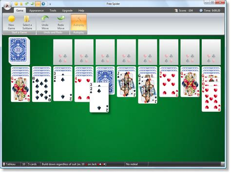 Two Deck Spider Solitaire by Free Spider Solitaire Spider Two Decks Screenshot