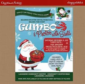 Dinner Ticket Design Gumbo Dinner With Santa Flyer Christmas Holiday Photos