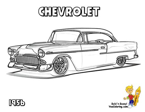Classic Cars And Trucks Coloring Pages Classic Chevy Car Coloring Pages Chevy S 55 57