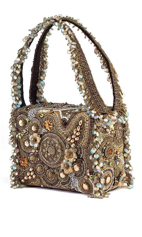 jewelry design purse  seed beads pearls
