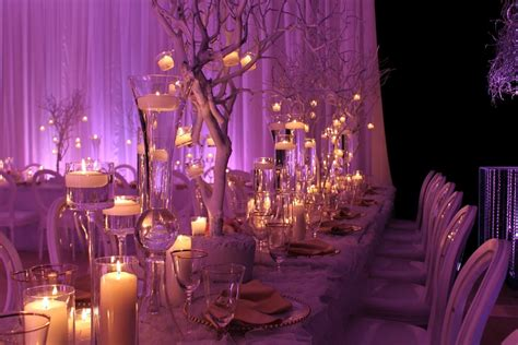decor themes white gold with a splash of purple