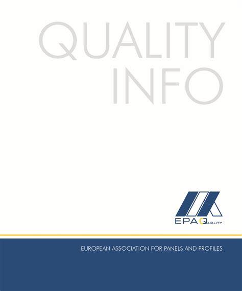 European Quality Assurance Association For Panels And Profiles european association for panels and profiles