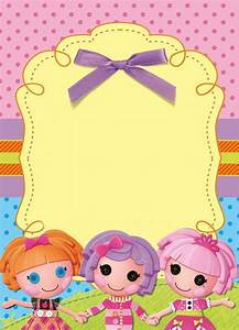 Lalaloopsy Party Invitation  Free Template  Just Fill In