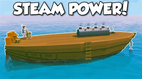How To Make A Boat Ylands by Ylands Steam Engine Ship Ylands Multiplayer Gameplay