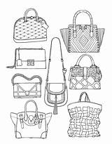 Coloring Adult Drawing Bag Books Moda Handbags Printable Adults Drawings Colorir Sketches Template Colouring Handbag Sketch Bags Unique Desenhos Achotendencia sketch template