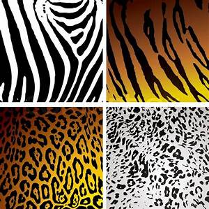 Animal skin backgrounds with different camouflage textures ...