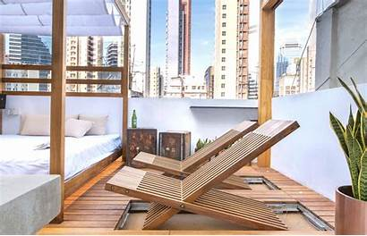 Deck Chairs Apartment Hong Rooftop Terrace Fold