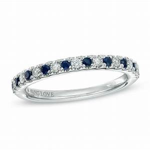 Vera Wang Love Collection 18 CT TW Diamond And Blue