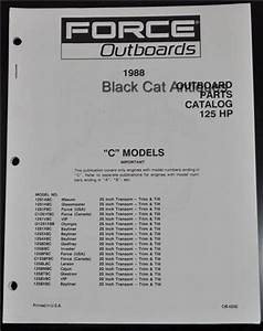 1988 Us Marine Force Outboard Parts Catalog 125 Hp  U0026quot C U0026quot  18