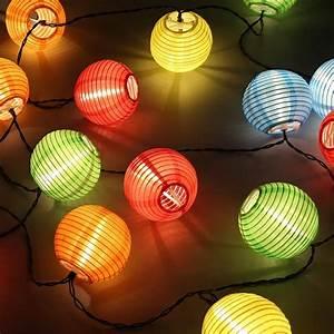 Lichterkette Balkon Solar : led solar lampion lichterkette 20er partylichterkette deko f r innen au en balkon garten party ~ Orissabook.com Haus und Dekorationen