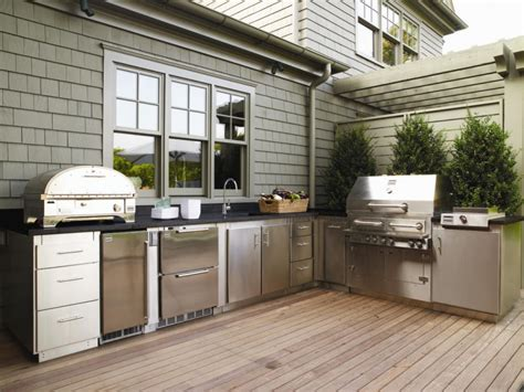 small outdoor kitchen ideas pictures tips  hgtv hgtv