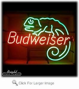 Neon Budweiser Lizard Sign only $299 99 Budweiser Neon