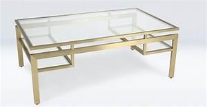 Table Basse En Verre Et Mtal De Couleur Laiton