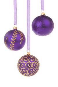 purple decorations 15 assorted christmas ornaments on a white background