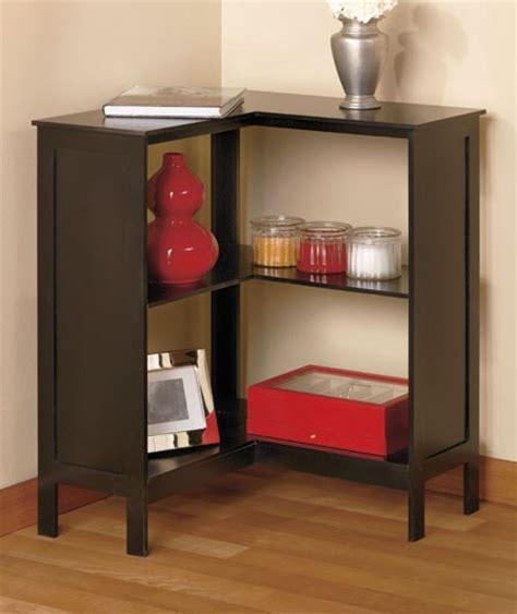 Corner Black Bookcase by New Wooden Beadboard Corner Bookcase Storage Shelf Walnut
