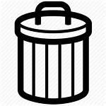 Icon Junk Bin Trash Basket Rubbish Icons