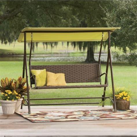 wicker swing bench from seventh avenue 174 d2705637