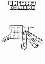 Minecraft Coloring Pages Printable Spider Birthday Fan Colouring Games Party Herobrine Characters Activities Sheets Colour Lego Apps Creeper Books Ratings sketch template