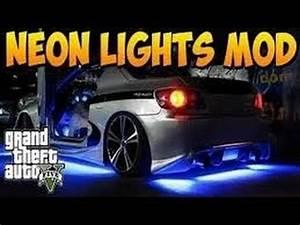 GTA V line NEON LIGHTS MOD Interior & Underglow Car