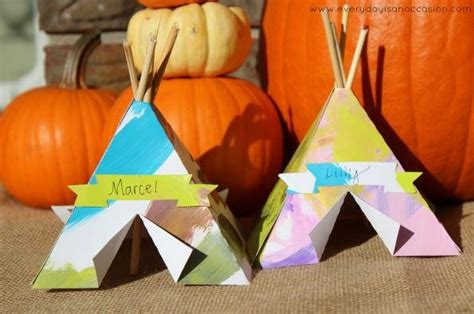 thanksgiving crafts for toddlers tepee place cards allfreekidscrafts 5563