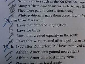 Unreal Answers to Basic Social Studies Questions: Jim Crow ...