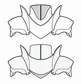 Armor Cosplay Shoulder Leather Pattern Medieval Patterns Armour Costume Body Costumes Template Foam Templates Eva Diy Tutorial Larp Craft Cuir sketch template