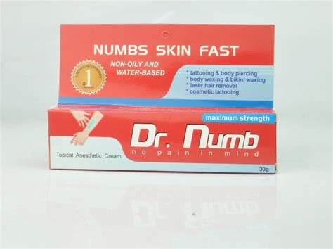 permanent makeup anaesthetic numb product pain relief