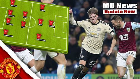 PREDICTED MANCHESTER UNITED LINEUP AGAINST BURNLEY - YouTube