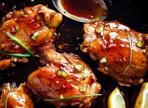 cuisine et vin recette recette facile de haut de cuisse de poulet à la sauce teriyaki