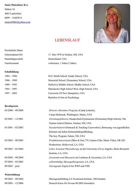 Wie Schreiben Lebenslauf by Muster Lebenslauf Word E Mail Lebenslauf Muster