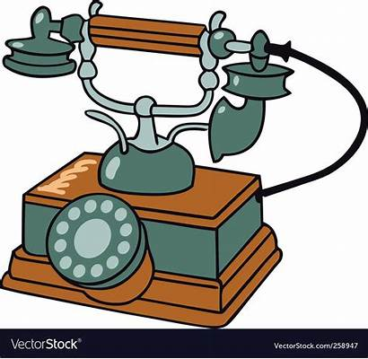 Telephone Vector Clipart Table Royalty Illustration Illustrations