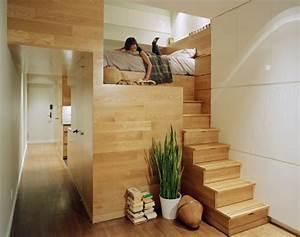 Lit Mezzanine Dressing : le lit mezzanine pratique et original ~ Premium-room.com Idées de Décoration