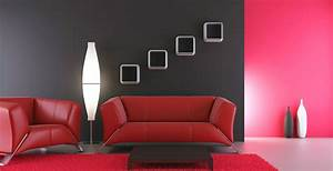 Red, Colour, Paint, U0026, Design, Ideas, For, Interior, Wall