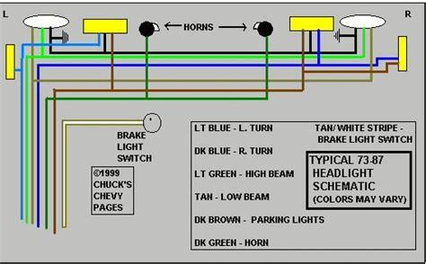 Headlight Wiring Diagram Schematic Chevy Trucks