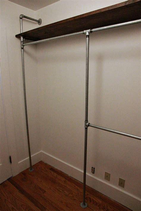 diy galvanized pipe closet